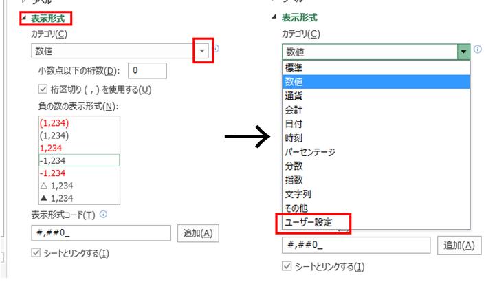 ユーザー定義の表示