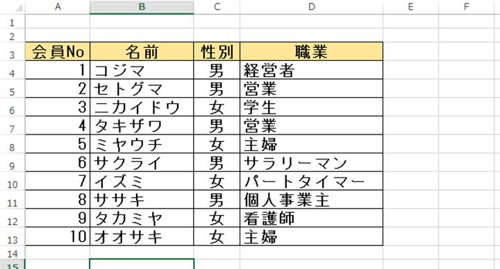 プルダウンリストの基本図