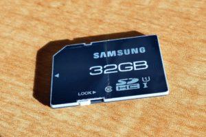 SDカードを利用したデータ移行に関する注意点