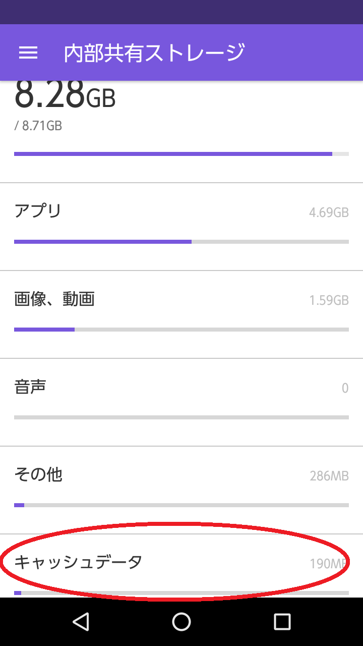 Androidストレージ
