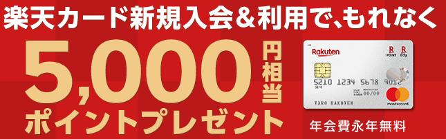 2019年1月最新版|楽天カード入会キャンペーンで貰えるポイントまとめ