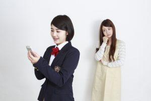 女子高生と母親