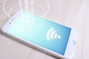 テザリングするiPhone