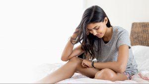 睡眠時間や睡眠の質を計測できる