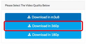 保存する動画サイズを右クリック