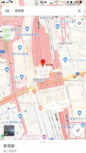 新宿駅周辺マップ