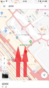 地図の3D表示