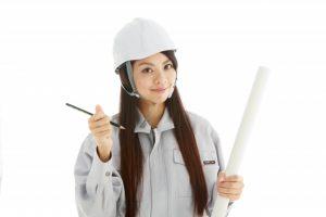 工事現場の女性