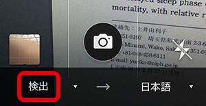 画面左下の「検出」をタップ