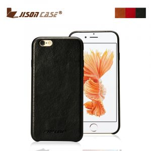 Jisoncase vintage slim genuine leather case for iPhone 6