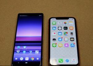 Xperia 1 iPhoneXR比較