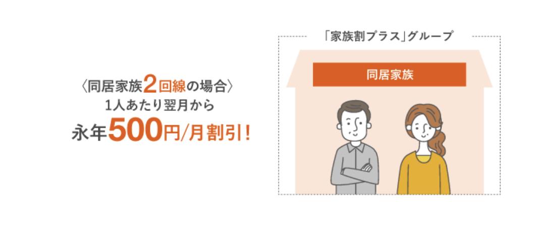 au「家族割プラス」は永年割引!割引額・加入条件・申込日を解説