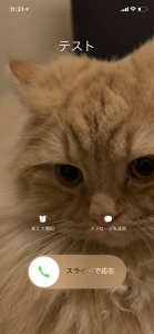 iPhoneの着信画面