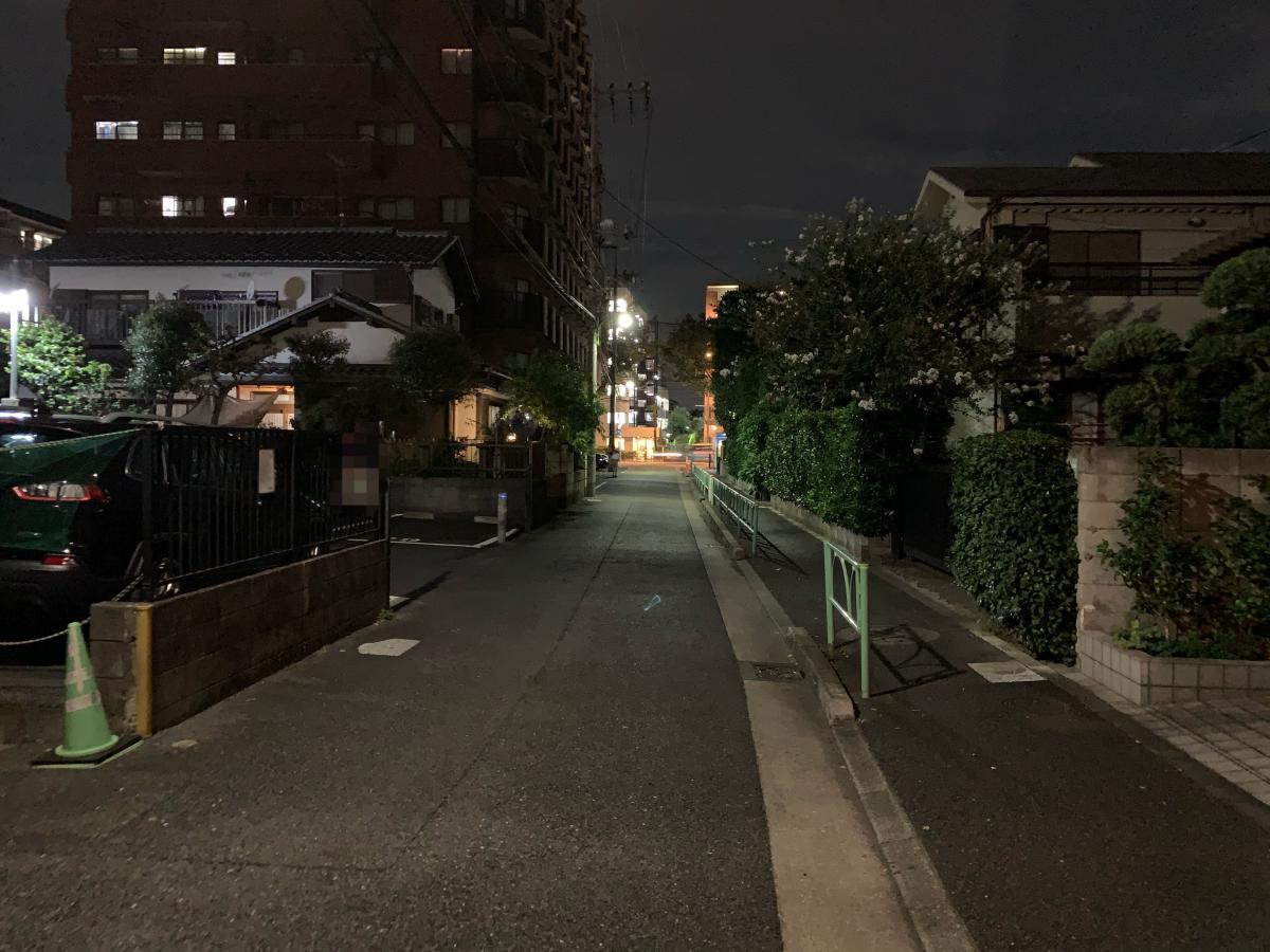 iPhone11Pro夜撮影画像