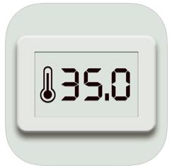 温度計アプリのデジタル温度計