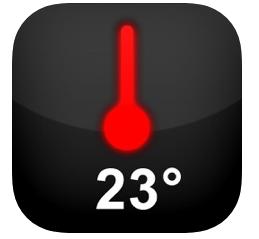 温度計アプリの温度計