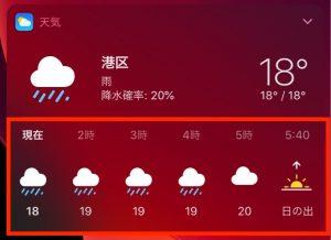 天気ウィジェット詳細
