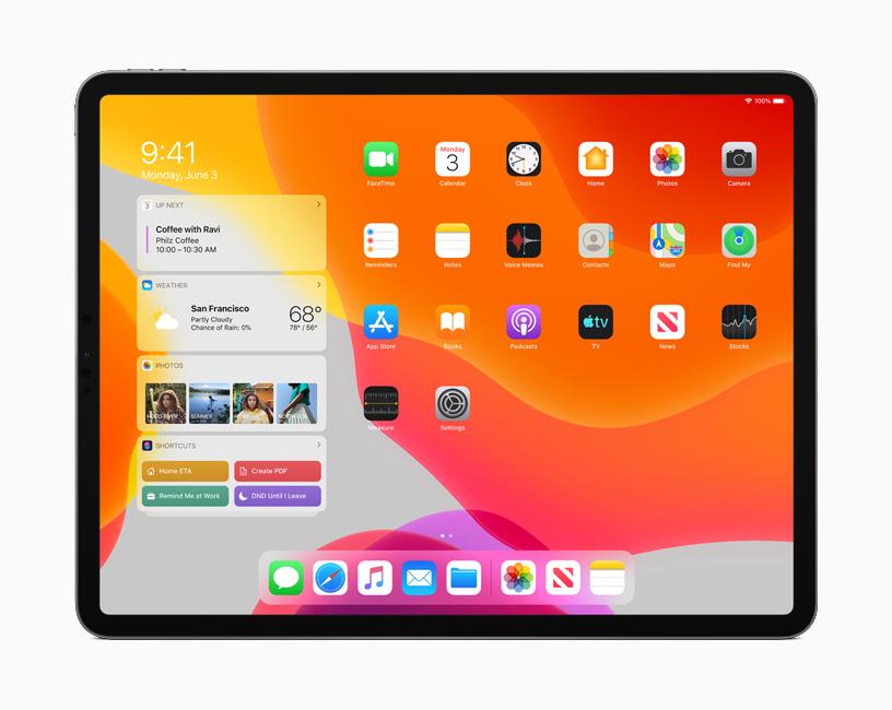 iPadOS - ホーム画面