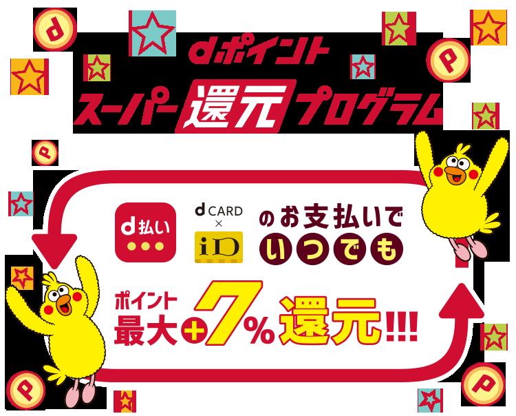 dポイント スーパー還元プログラム