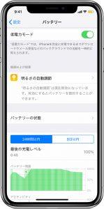 iPhone - 低電力モード
