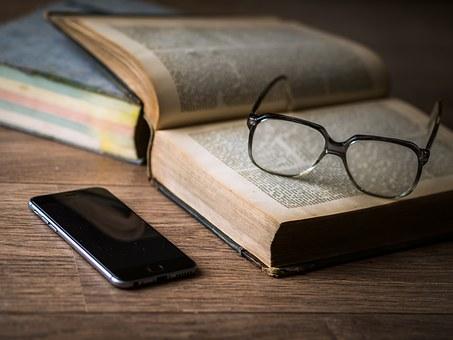 iPhoneと眼鏡