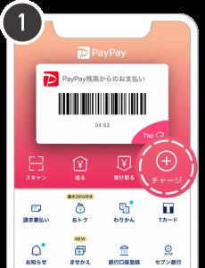 PayPay残高にチャージする手順①