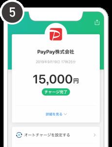 PayPay残高にチャージする手順⑤