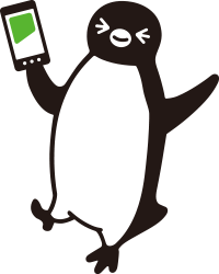 モバイルSuicaを持ったペンギン