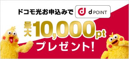 10,000ptのdポイントプレゼント