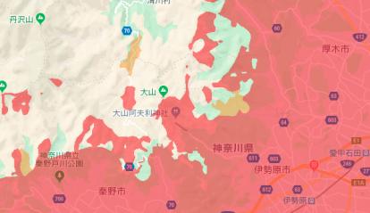 UQモバイルのエリア検索結果