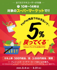 PayPay キャンペーン スーパーマーケット