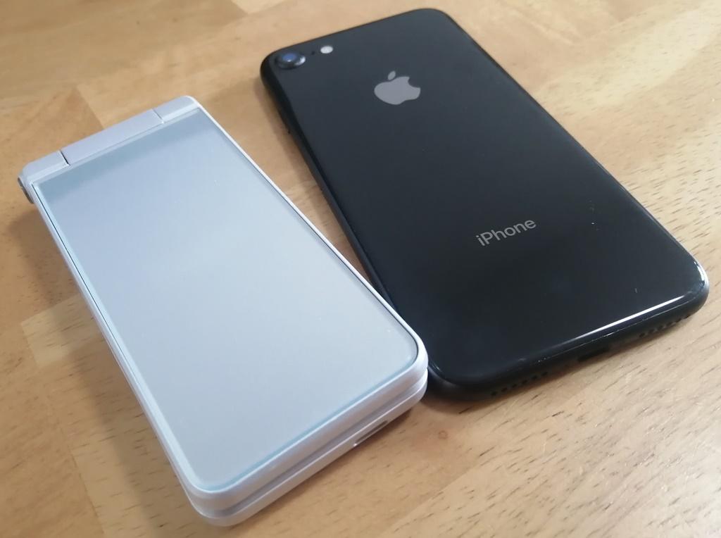 ガラケーとiPhone