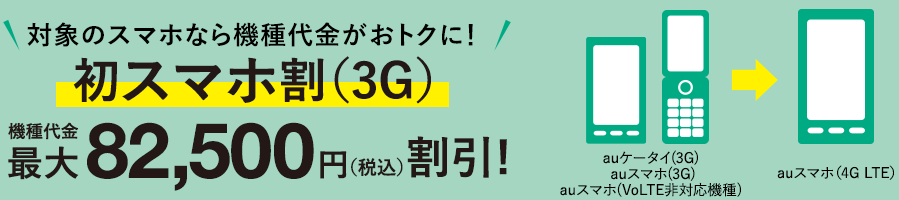 初スマホ割(3G)