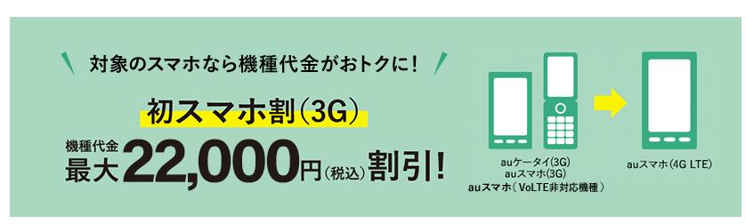 au 初スマホ割(3G)