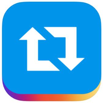 リポストアプリ