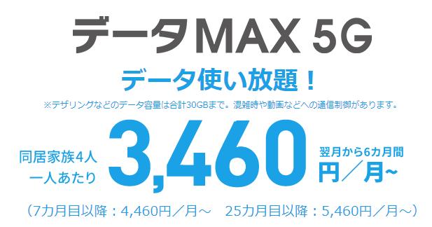auデータMAX 5G