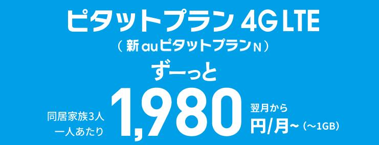 auピタットプラン 4G