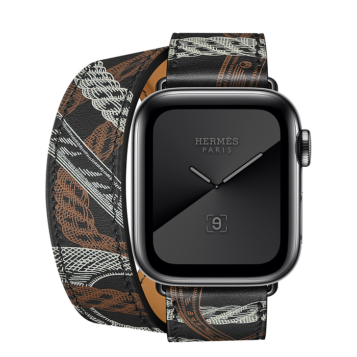 Apple Watch Hermès スペースブラックステンレススチールケースとドゥブルトゥール