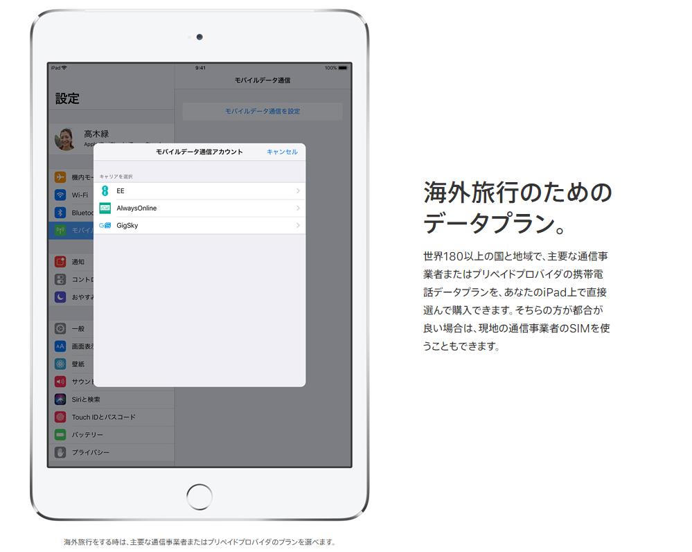 Apple SIMでデータ通信