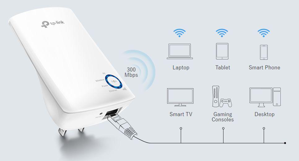 TP-LINKのWi-Fi中継器