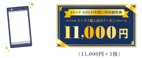 dカード GOLDの年間ご利用額特典 ケータイ購入割引クーポン