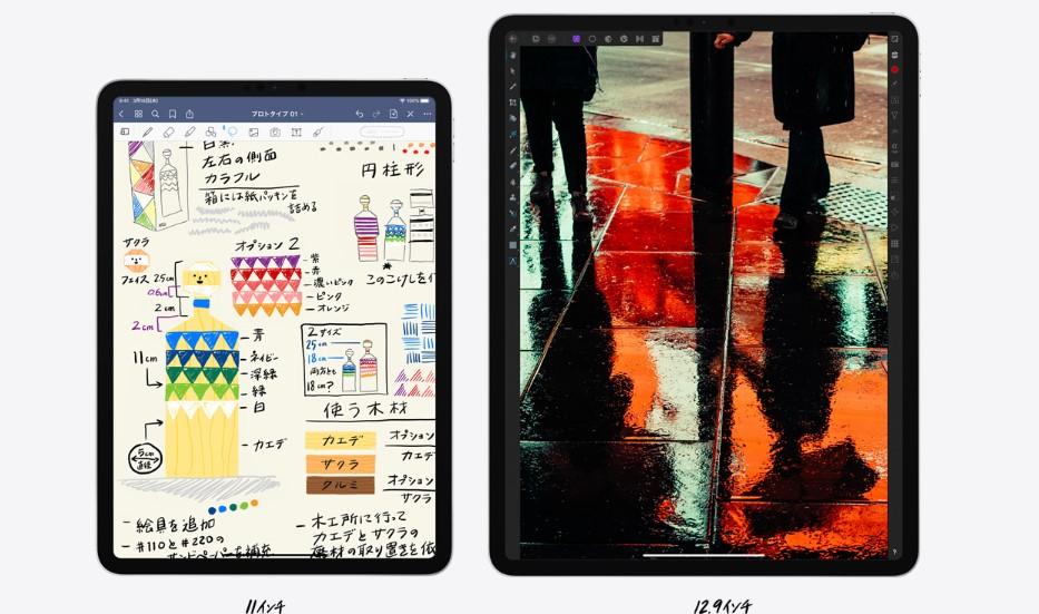 iPad Pro 12.9インチ(第4世代)とiPad Pro 11インチ(第2世代)