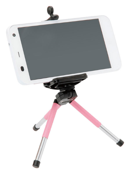 エツミ製キーポッドwithスマートフォンアダプターのスマホ装着イメージ