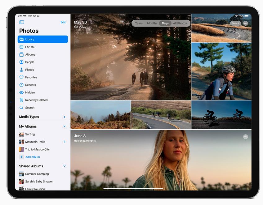 iPadOS 14のサイドバー