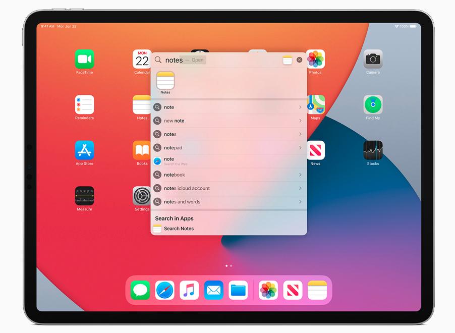 iPadOS 14 ユニバーサル検索