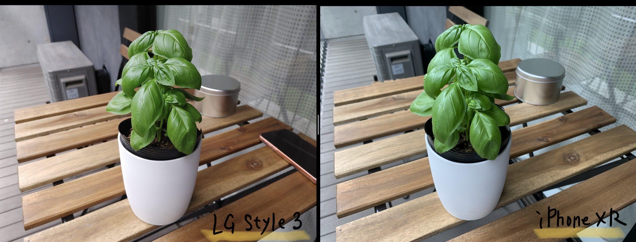 LG style3とiPhone XRで撮影