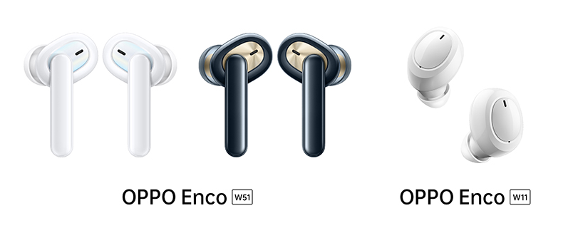 OPPO-Enco-W51-W11のカラーイメージ