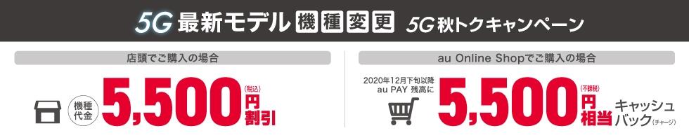 5G秋トクキャンペーン