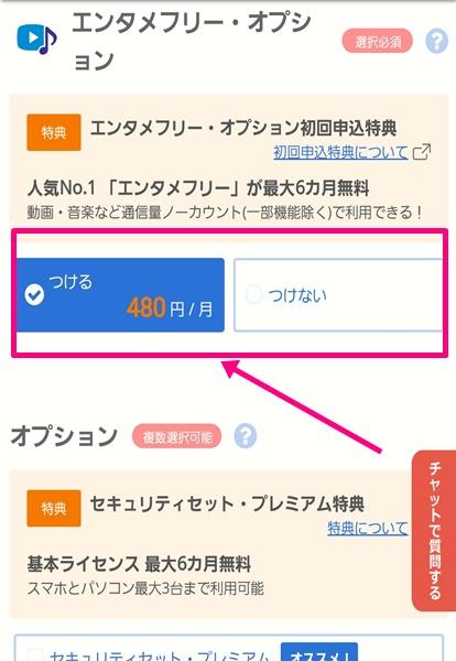 BIGLOBEモバイル購入手続き6