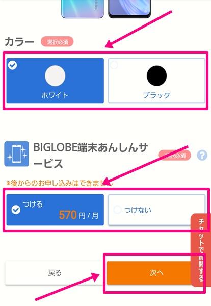 BIGLOBEモバイル購入手続き9